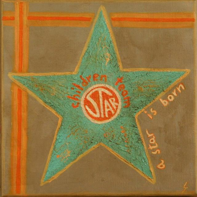 Tableau Contemporain, A star is born (4). Sophie Costa, artiste peintre.