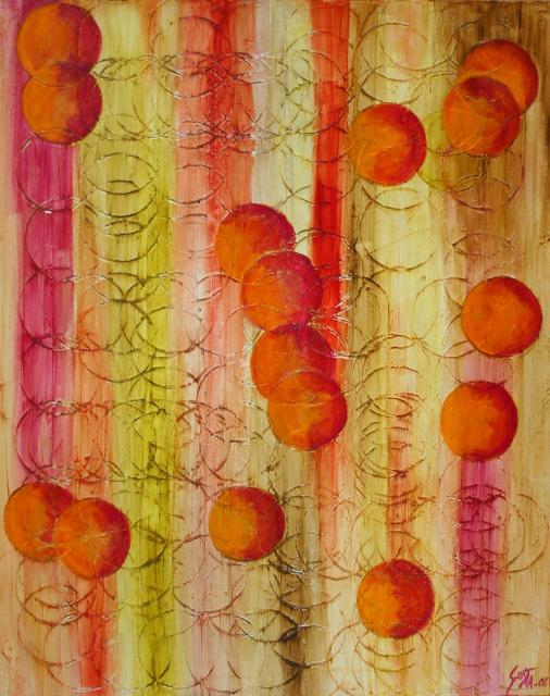 Tableau Contemporain, Balls. Sophie Costa, artiste peintre.