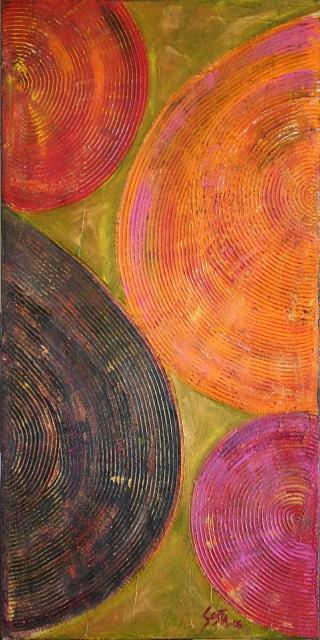 Tableau Contemporain, Vinyl. Sophie Costa, artiste peintre.