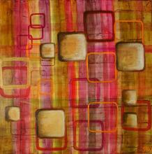 "Tableau ""70's"" : Artiste peintre Sophie Costa"