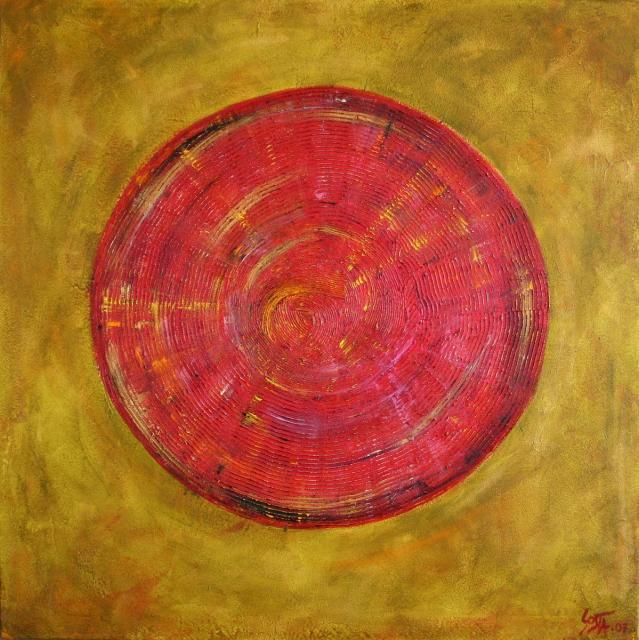 Tableau Contemporain, Cible. Sophie Costa, artiste peintre.