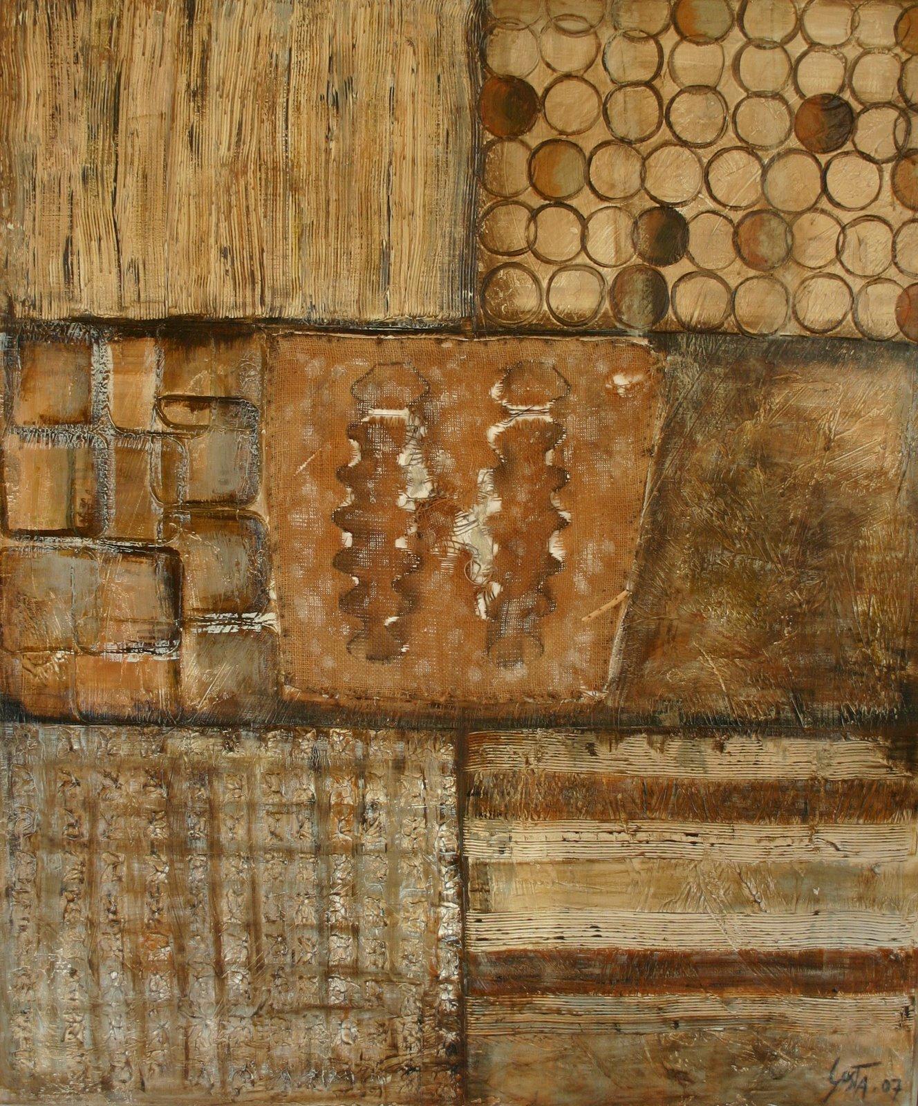 Tableau Contemporain, Eléments. Sophie Costa, artiste peintre.