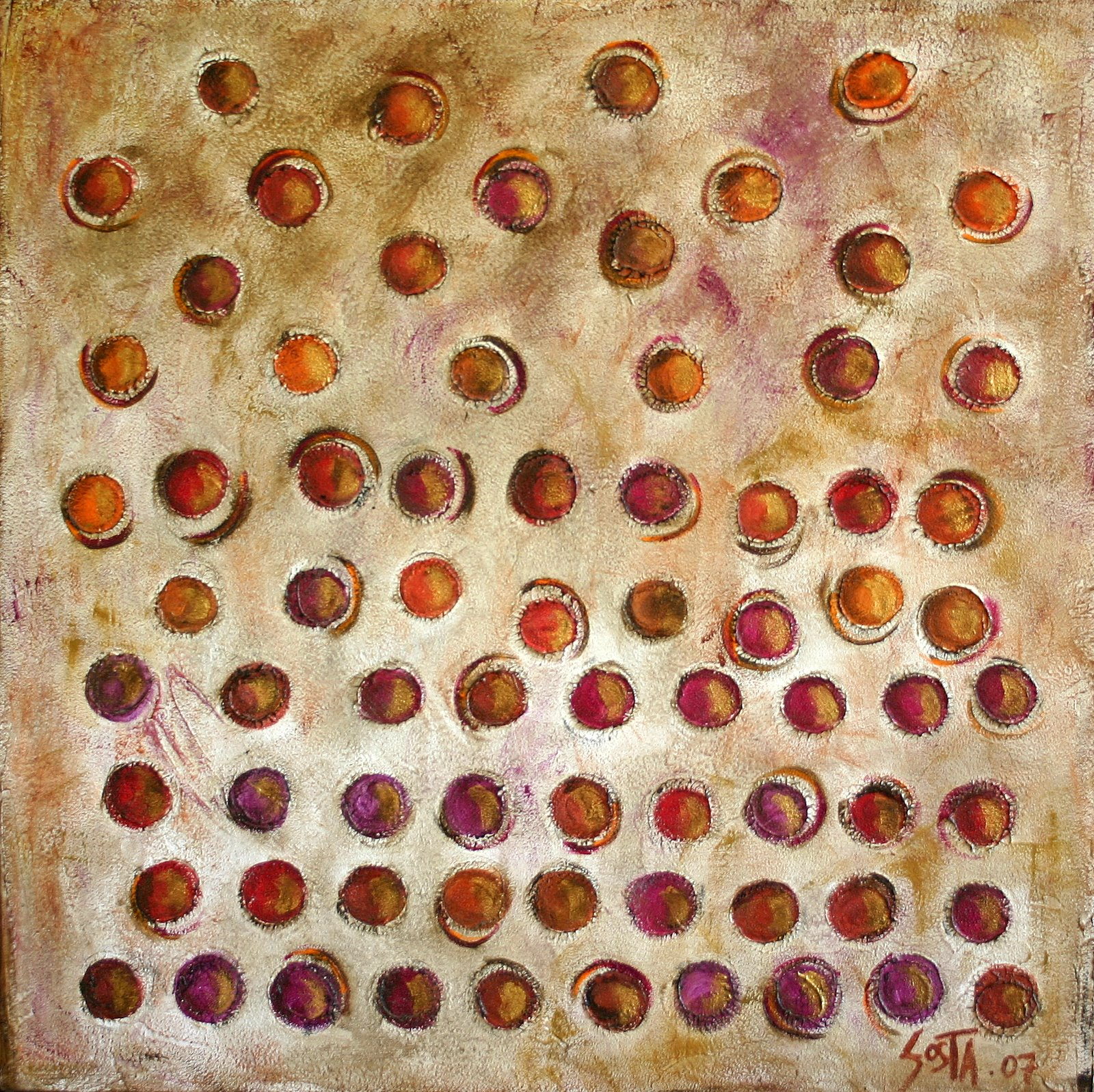Tableau Contemporain, Ebullition. Sophie Costa, artiste peintre.
