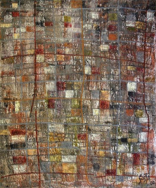 Tableau Contemporain, Squares. Sophie Costa, artiste peintre.