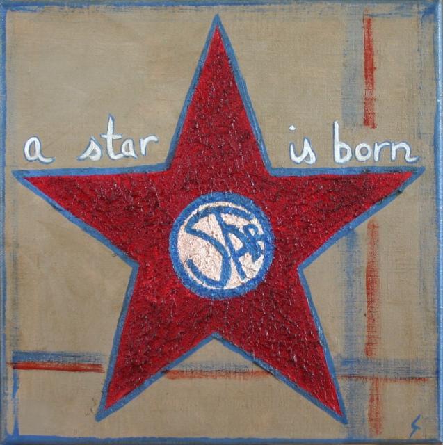 Tableau Contemporain, A star is born (1). Sophie Costa, artiste peintre.