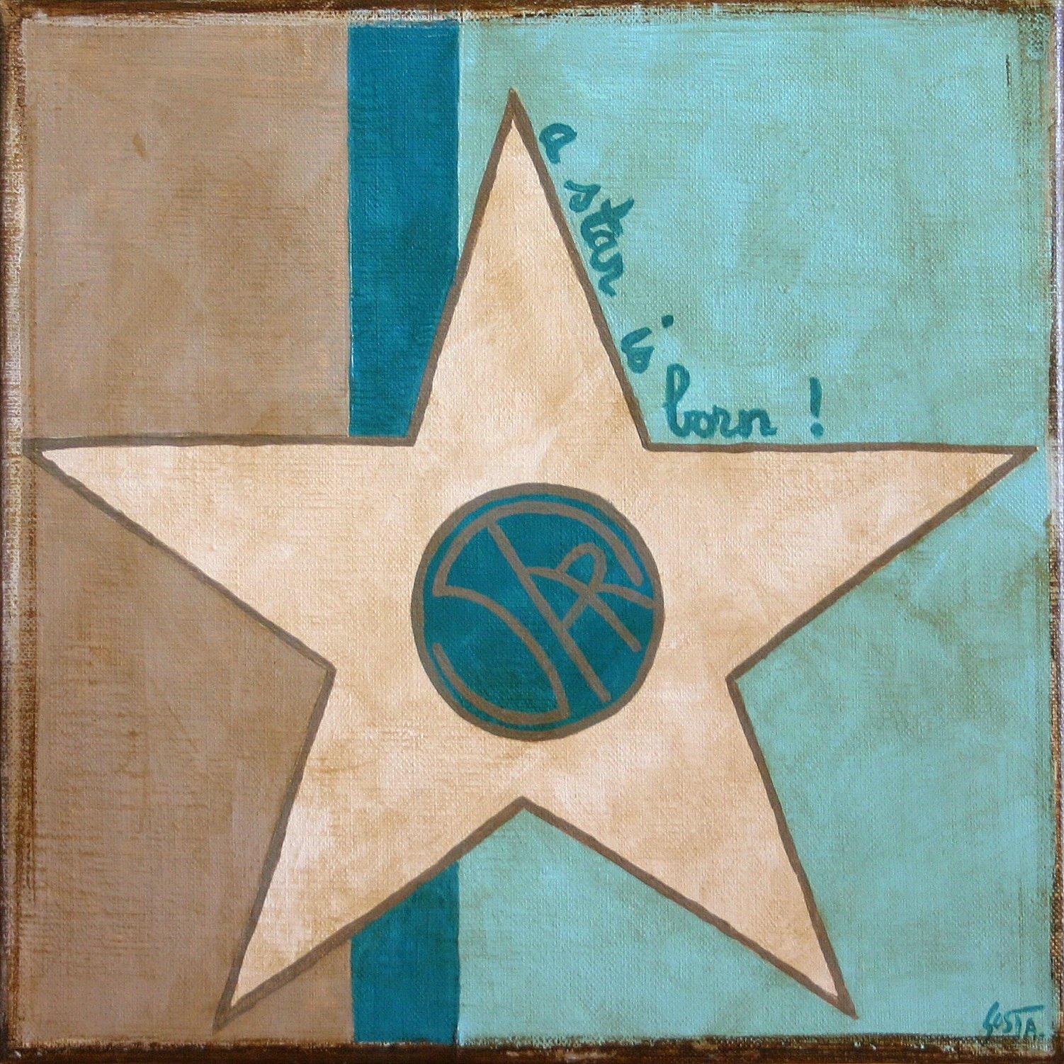 Tableau Contemporain, A star is born (5). Sophie Costa, artiste peintre.