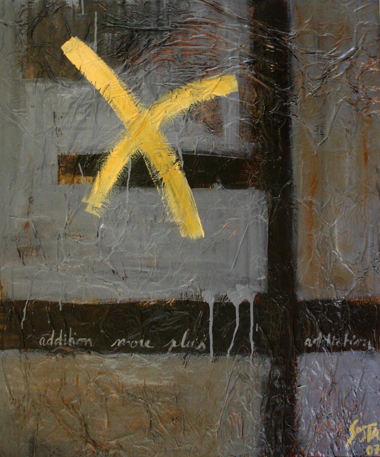 Tableau Contemporain, More. Sophie Costa, artiste peintre.