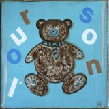 L'ourson bleu : Artiste peintre Sophie Costa
