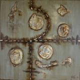 Eau métallique : Artiste peintre Sophie Costa