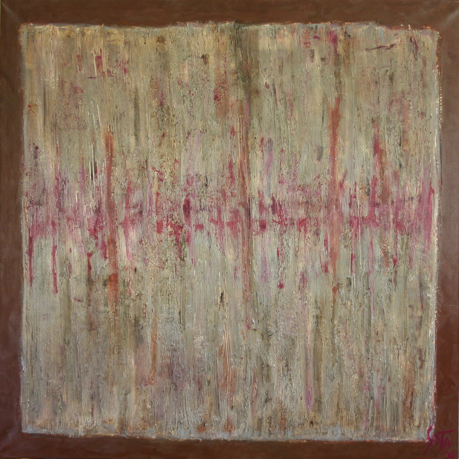 Tableau Contemporain, Haute fréquence. Sophie Costa, artiste peintre.