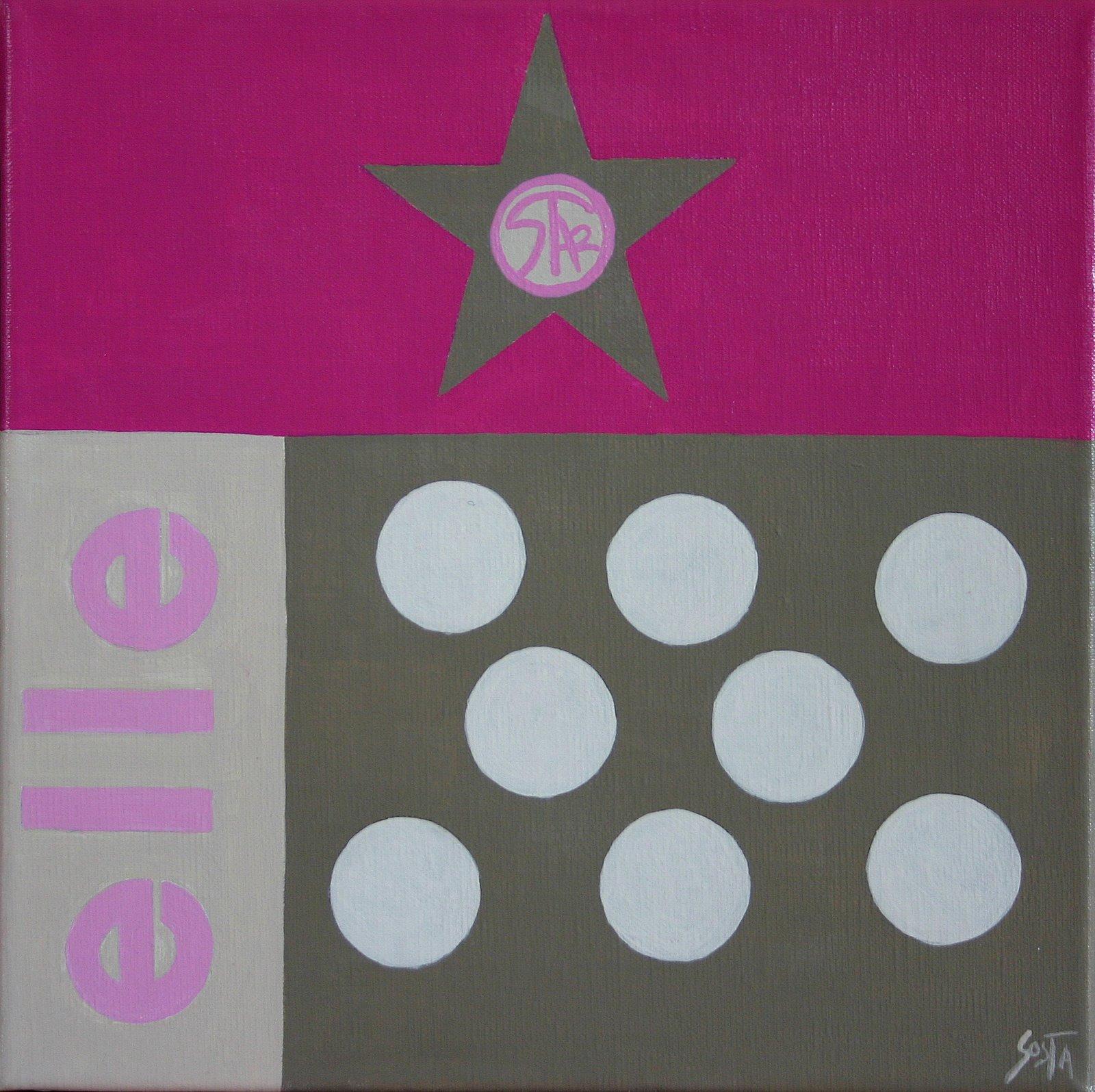 Tableau Contemporain, Elle. Sophie Costa, artiste peintre.
