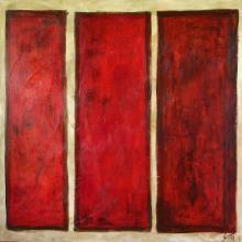 Tableau Rouge 03 : Artiste peintre Sophie Costa