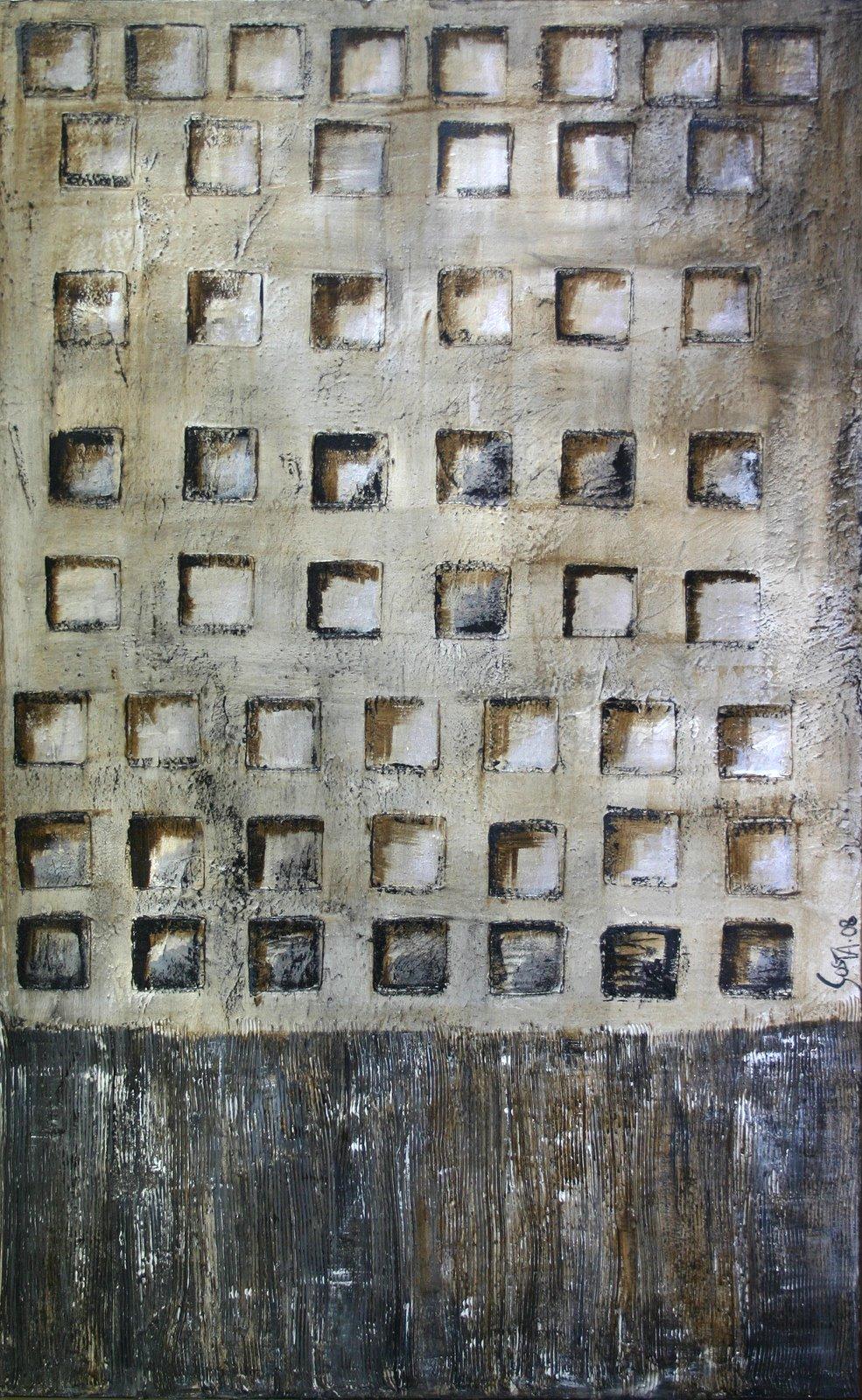 Tableau Contemporain, squares 05. Sophie Costa, artiste peintre.