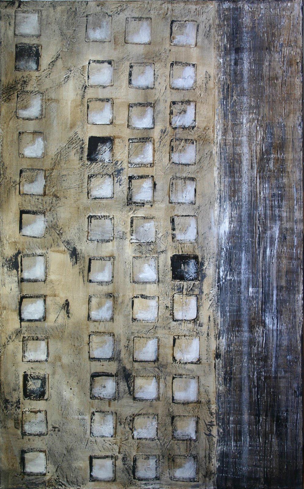 Tableau Contemporain, squares 04. Sophie Costa, artiste peintre.