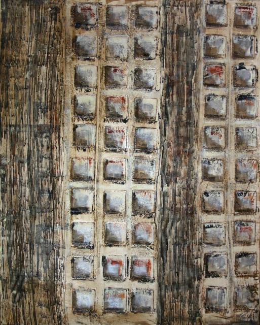 Tableau Contemporain, squares (8). Sophie Costa, artiste peintre.