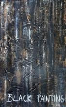 Tableau abstrait: Black Painting 2. Artiste peintre Sophie Costa