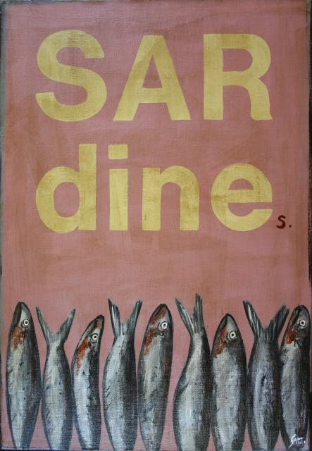 Tableau Contemporain, SARDINEs. Sophie Costa, artiste peintre.