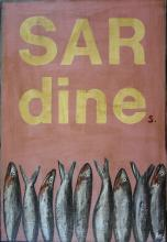 Tableau SARDINEs : Artiste peintre Sophie Costa