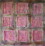 Colored squares 1, tableau abstrait