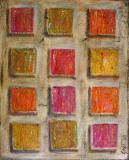 Colored squares 2, tableau abstrait