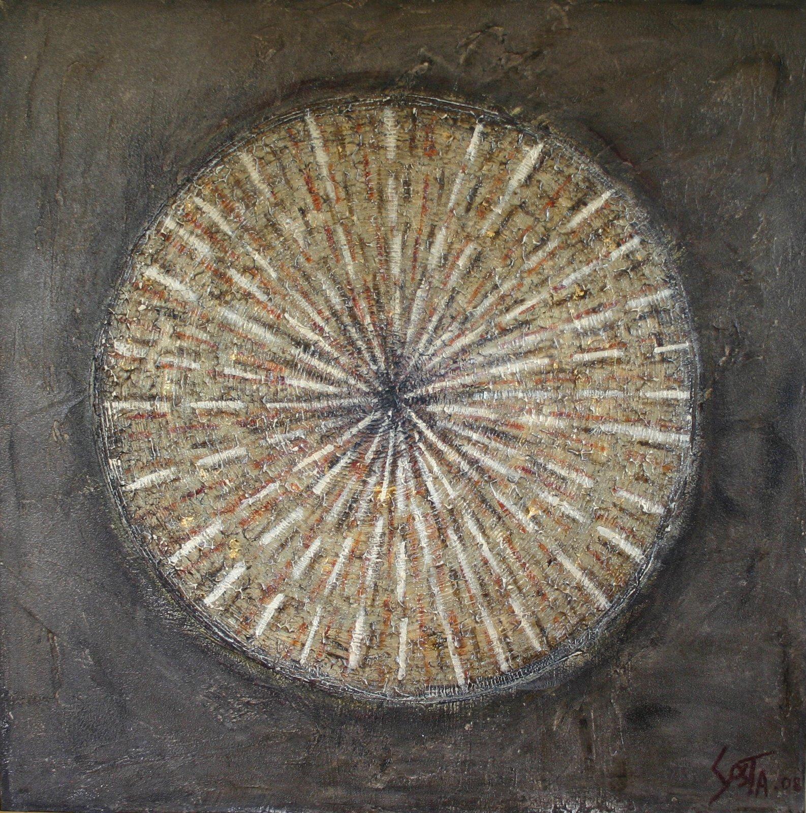 Tableau Contemporain, Cible ?. Sophie Costa, artiste peintre.