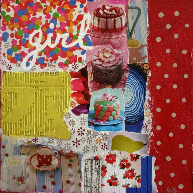 Tableau pour les enfants. Tableau Contemporain, GIRL. Sophie Costa, artiste peintre.