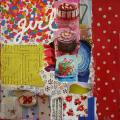 Tableau Contemporain Collage Girl