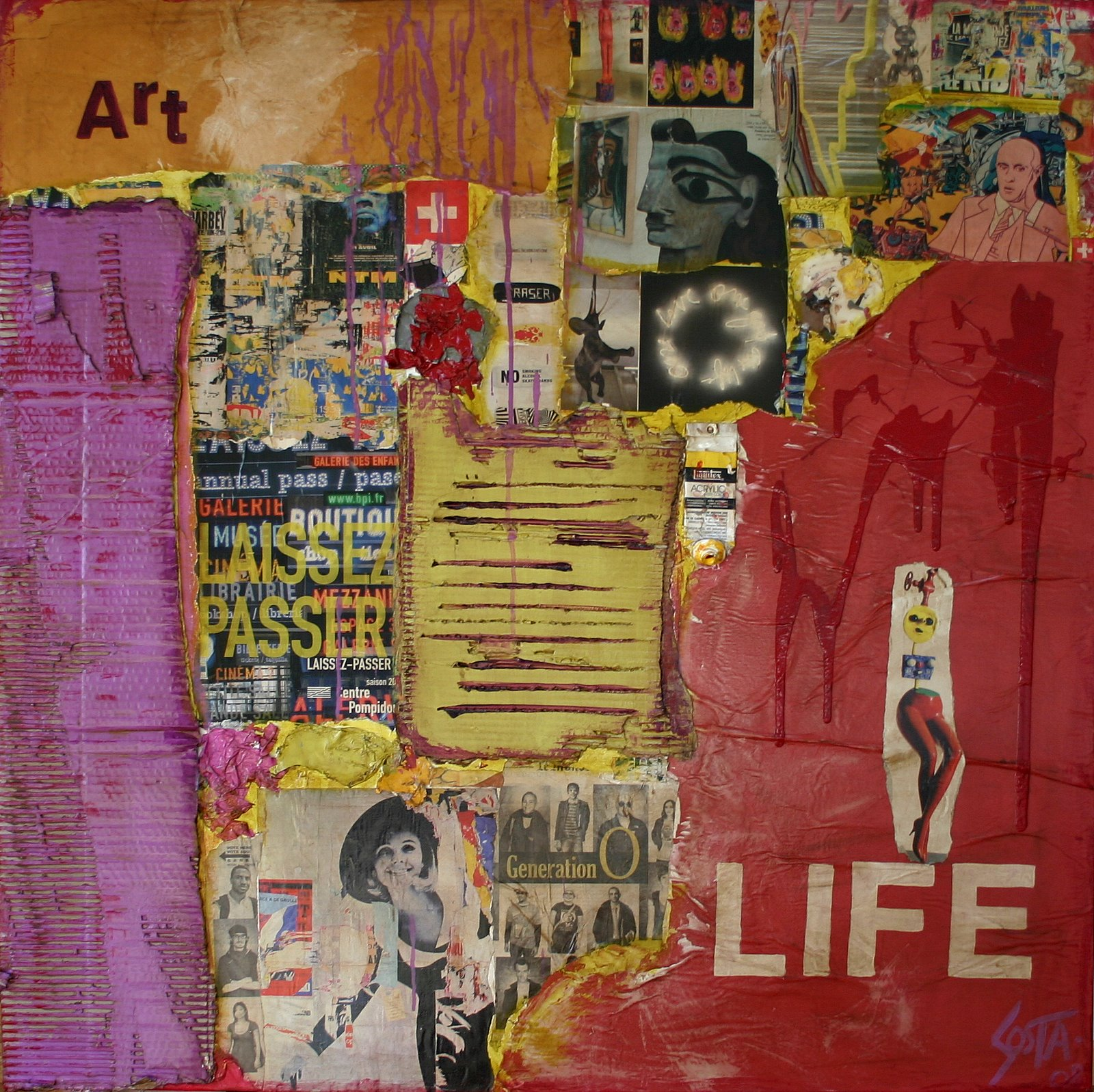 Tableau Contemporain, Art LIFE. Sophie Costa, artiste peintre.