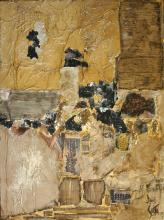 Tableau abstrait, collage: Brut