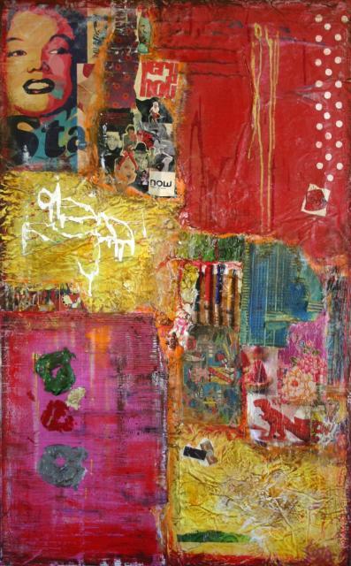 """Tableau Contemporain, """"Be Happy"""". Sophie Costa, artiste peintre."""