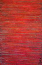 Tableau contemporain abstrait, Red Scratch