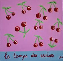 Tableau Le temps des cerises : Artiste peintre Sophie Costa