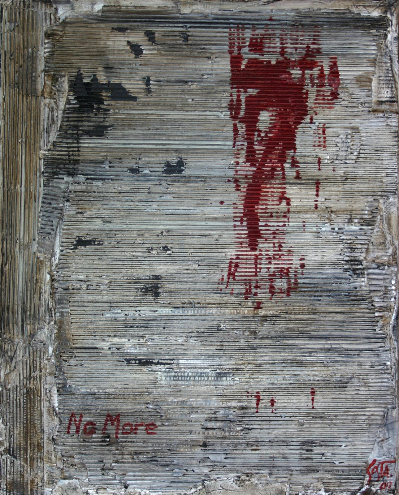 Tableau Contemporain, No more. Sophie Costa, artiste peintre.