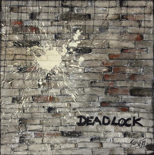 deadlock, urbain,  Tableau Contemporain, DEADLOCK. Sophie Costa, artiste peintre.