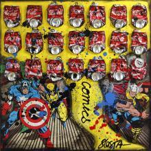 Tableau COMICS COKE : Artiste peintre Sophie Costa