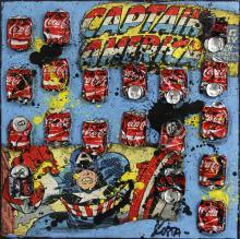 Tableau CAPTAIN AMERICA : Artiste peintre Sophie Costa