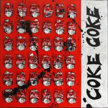 Tableau COKE   : Artiste peintre Sophie Costa