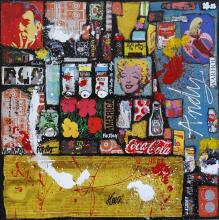 Tableau ANDY ! : Artiste peintre Sophie Costa
