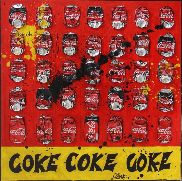 Tableau Contemporain, COKE # 2. Sophie Costa, artiste peintre.