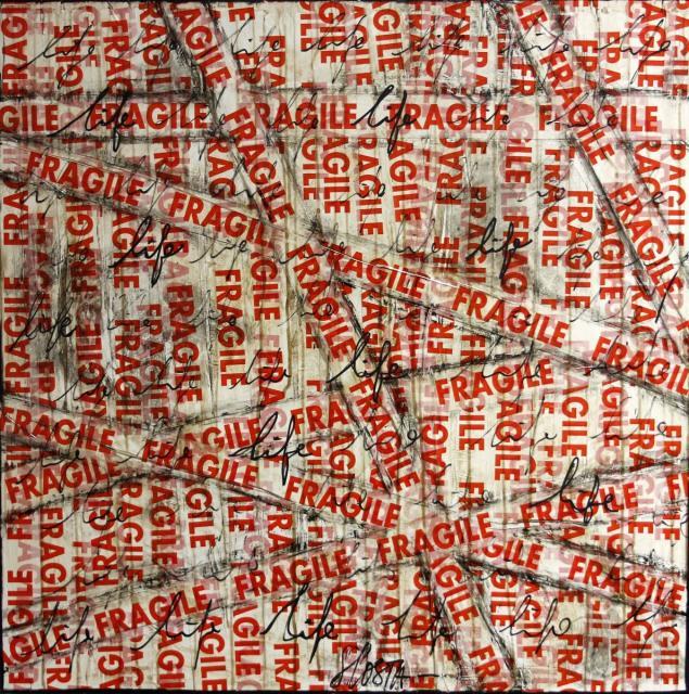 collage, FRAGILE Tableau Contemporain, FRAGILE. Sophie Costa, artiste peintre.