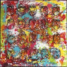 Tableau FIREWORK : Artiste peintre Sophie Costa