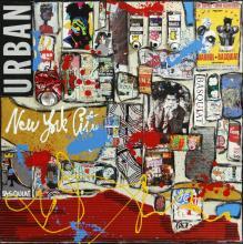 Tableau Basquiat vs Warhol : Artiste peintre Sophie Costa