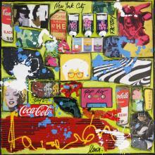 Tableau pop pop pop : Artiste peintre Sophie Costa