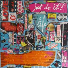 Tableau Just do it ! : Artiste peintre Sophie Costa