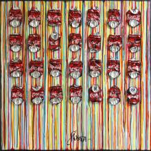 Tableau Striped coke : Artiste peintre Sophie Costa