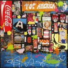 Tableau POP AMERICA # 3 : Artiste peintre Sophie Costa