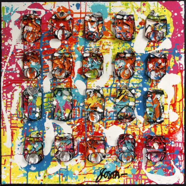 Tableau Contemporain, FREEDOM. Sophie Costa, artiste peintre.