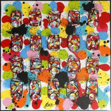 Tableau Bubble coke : Artiste peintre Sophie Costa