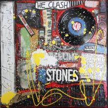 Tableau Let there be rock ! : Artiste peintre Sophie Costa