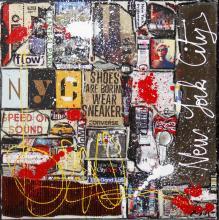 Tableau NYC : Artiste peintre Sophie Costa